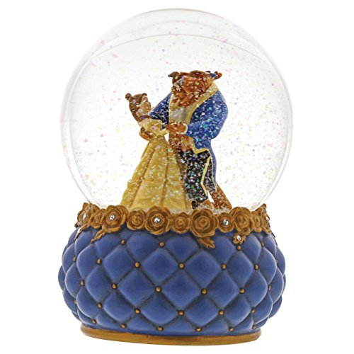 "Enesco Disney Showcase ""Beauty Belle and Beast Stone Resin Waterball, 6.5"", Multicolor"