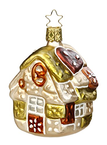 Inge Glas Fairytale Gingerbread Haus 1-063-15 German Glass Christmas Ornament