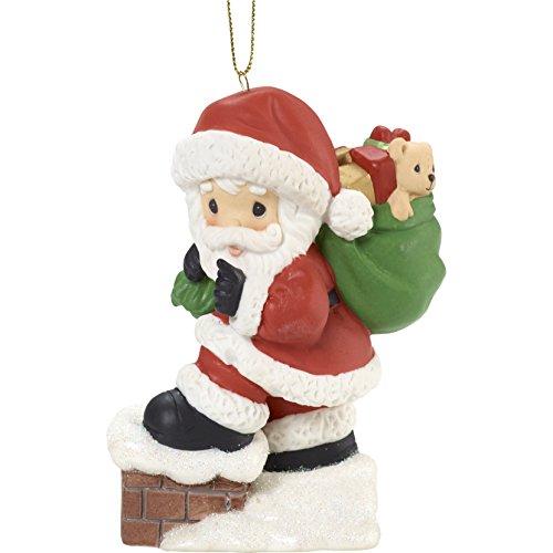 "Precious Moments"" May Your Every Wish Come True Santa Ornament"