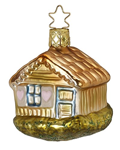 Inge-Glas Happy Cottage 1-015-16 German Blown Glass Christmas Ornament Gift Box