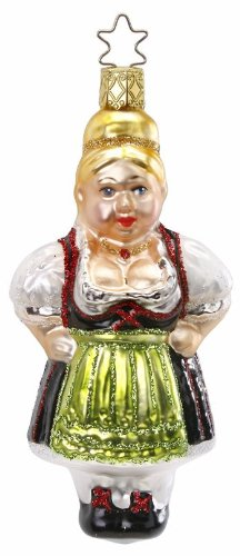 Inge-Glas Bavarian Heidi 1-041-12 German Blown Glass Christmas Ornament