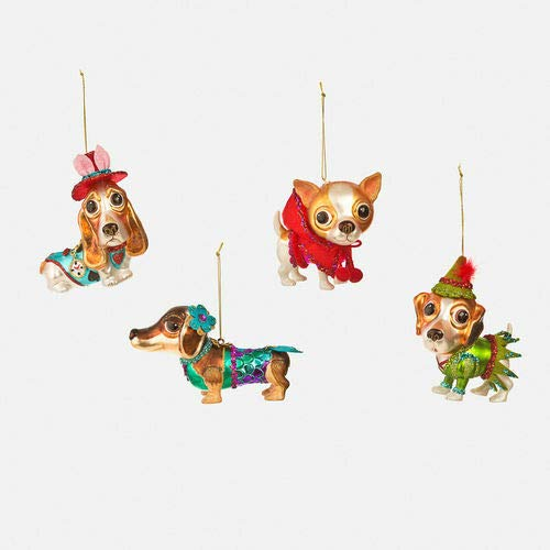 180 Degrees CG0075 Fairy Tale Dog Glass Christmas Ornament Pet Puppy Nursery Rhyme Storybook