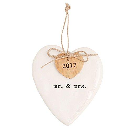 Mud Pie MR & MRS 2017 ORNAMENT