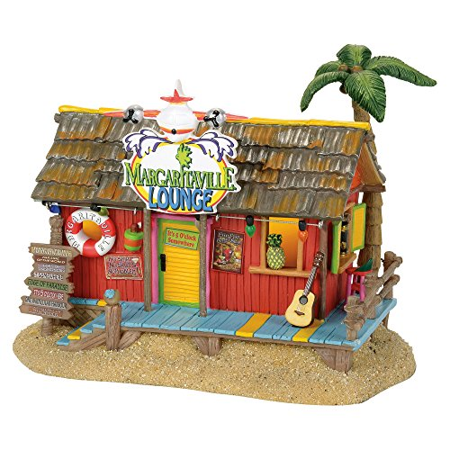 Department 56 Margaretville Lounge Musical Village Lit Building, Multicolored