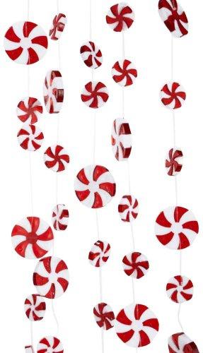 Kurt Adler 8′ Plastic Large Candy Swirl Garland