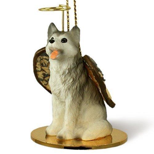 1 X Siberian Husky Gray & White Angel Dog Ornament Figurine by Conversation Concepts
