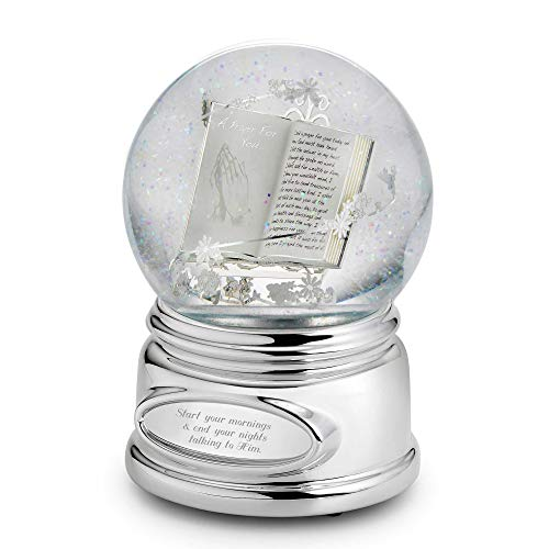 Things Remembered Personalized Praying Hands Musical Snow Globe with Engraving Included