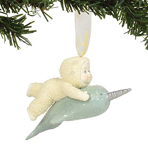 Department 56 Snowbabies Narwhal Hanging Ornament, 3.125″, Multicolor