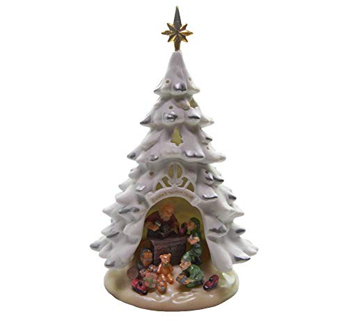 Appletree Design – Porcelain Lighted Tree – Santa's Workshop