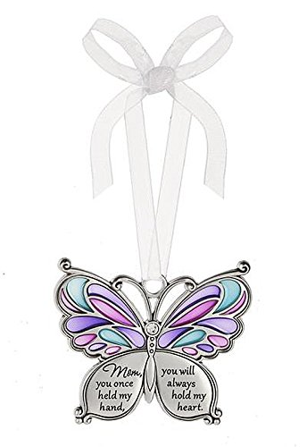 Ganz Butterfly Wishes Colored Ornament – Mom, you once held my hand, you will always hold my heart. by Ganz