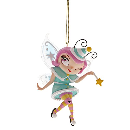 Enesco The The World of Miss Mindy Party Fairy Stone Resin Hanging Ornament, 4.4″, Multicolor
