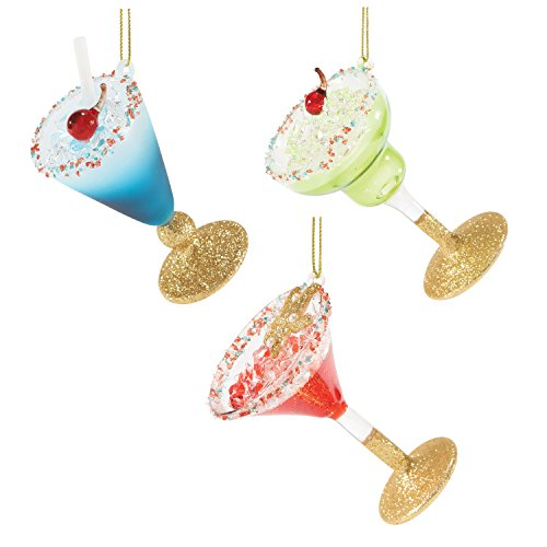 Department 56 Gone to the Beach Cocktail Ornaments, 3.5 inch (Assorted Styles)