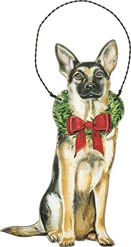 Primitives by Kathy Ornament – Christmas German Shepherd Home Decor