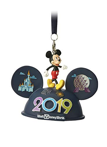 Disney World 2019 Mickey Mouse Ears Hat Light Up Ornament