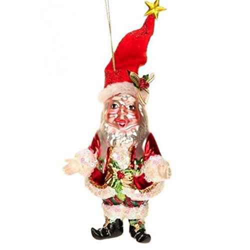 Mark Roberts Glass Christmas Ornament 36-44060 Jolly Old Elf