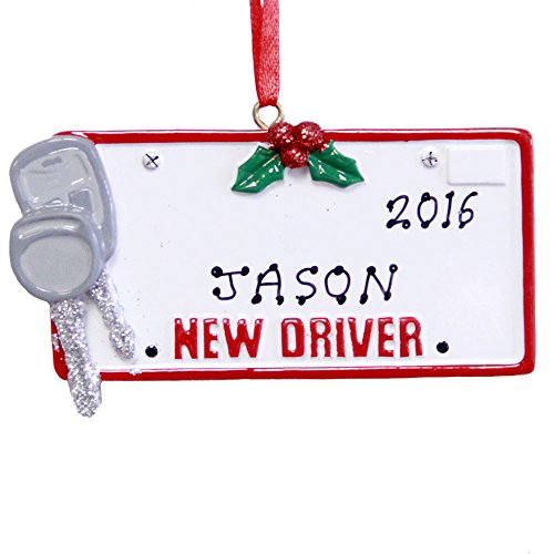Rudolph and Me Personalized New Driver License Christmas Ornament 2018 Free Personalization
