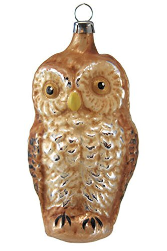 Marolin Owl MA2011033 German Glass Ornament w/Gift Box