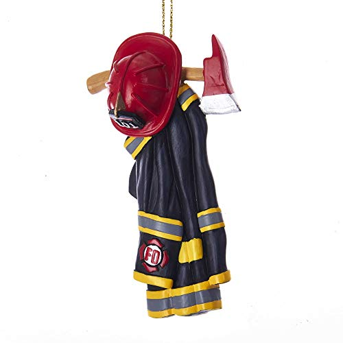 Kurt Adler RESIN FIRE FIGHTER UNIFORM ORNAMENT