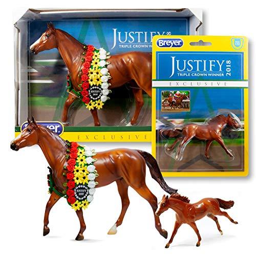 Breyer Justify Horse Model Set | Includes Traditional & Stablemates Models