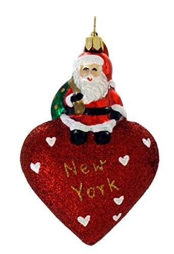 Landmark Creations From Santa With Love New York Polish Glass Blown Christmas Ornament