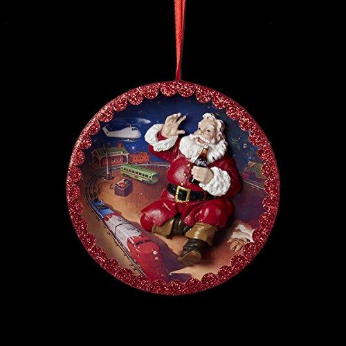 Kurt Adler Coca-Cola Santa Shadow Box Ornament 110 MM