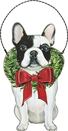 Primitives by Kathy Ornament – Christmas Frenchie Home Decor