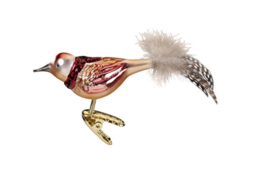 Inge Glas Bird Clip-On Moritz 1-219-15 German Blown Glass Christmas Ornament