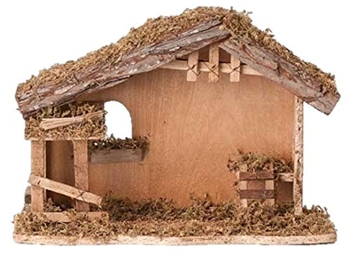 10 Inch High 13 Inch Wide Fontanini Nativity Stable – By Roman 5 Inch Scale