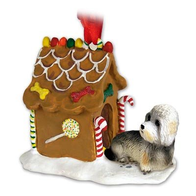 Dandie Dinmont Ginger Bread House Ornament
