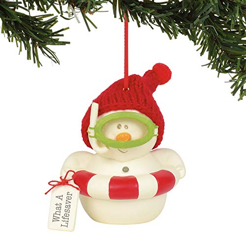 Department 56 Snowpinions What A Lifesaver Hanging Ornament, 3″, Multicolor