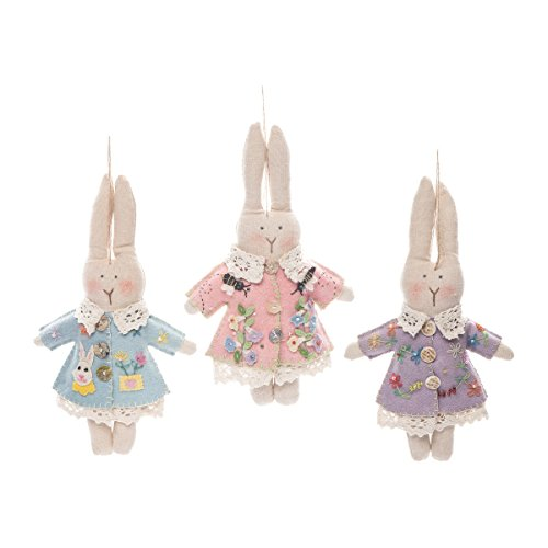 GALLERIE II Spring Penny Lane Easter Bunny Ornament Decor Decoration A/3 Bunnies