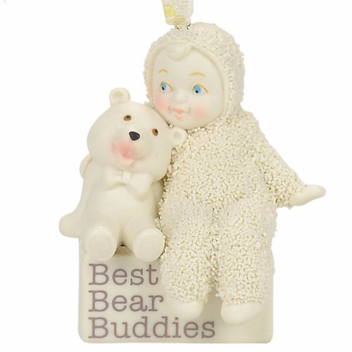 "Department 56 Snowbabies ""Best Bear Buddies"" Porcelain Ornament, 2.56"""
