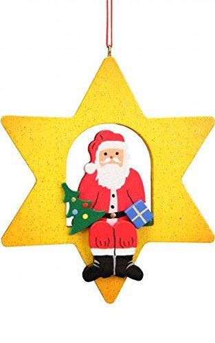 Alexander Taron 10-0622 Christian Ulbricht Ornament – Santa Claus Star – 3.75″ H x 3.25″ W x .5″ D Orange