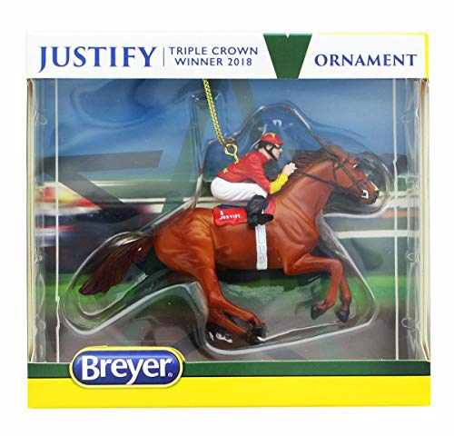 Breyer Model Horse Holiday Ornament – Justify Red Jockey