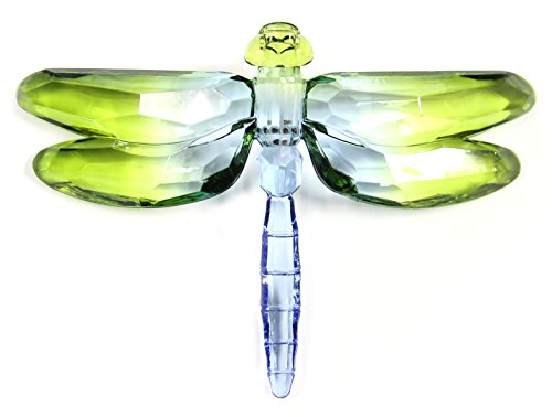 Crystal Expressions Acrylic 4×6 Inch 2 Tone Dragonfly Ornament/ Sun-Catcher (Green)
