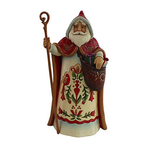 Enesco Jim Shore Heartwood Creek Santa's Around The World Austrian Stone Resin, 7″ Figurine