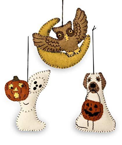 Bethany Lowe Halloween Friends Fabric Ornament – Set of 3