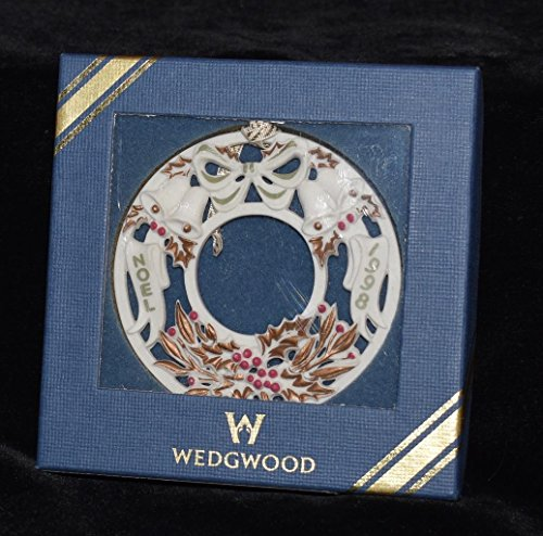 "Wedgwood White Jasper 1998 Christmas Ornament ""Noel"""