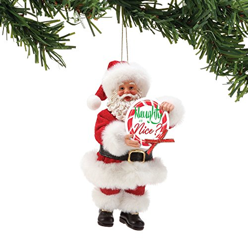 Department 56 Possible Dreams Naughty or Nice, 6″ Hanging Ornament, Multicolor