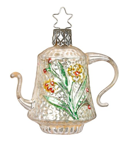Inge-Glas Nostalgic Teapot 1-228-17 German Glass Christmas Ornament