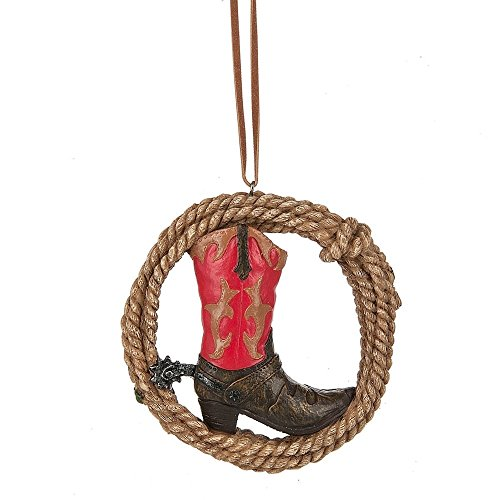 Midwest-CBK Cowboy Boot in Lasso Rope Ornament