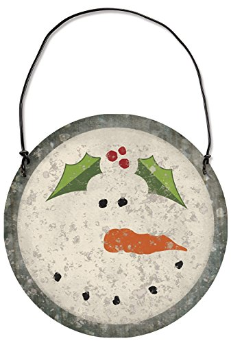 Primitives By Kathy Snowman 3.13 Inches Diameter Metal Tin Hanging Ornament Decor