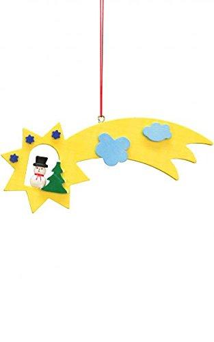 Alexander Taron 10-0623 Christian Ulbricht Ornament – Snowman Comet – 2.25″ H x 5″ W x .25″ D Orange