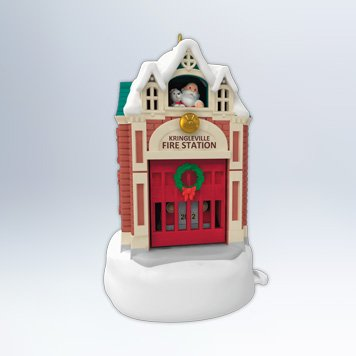Hallmark 2012 Kringleville Fire Station Ornament