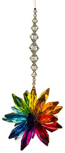 Ganz Crystal Expressions Acrylic 7 Inch Rainbow Starburst Ornament