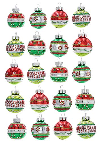 Christopher Radko Holiday Splendor 1.25″ 20 Count Decorated Christmas Rounds
