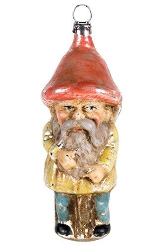 Marolin Rumpelstiltskin with Red Hat MA2011093F German Glass Ornament w/Gift Box
