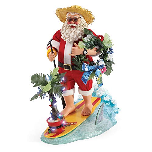 Department 56 Possible Dreams Santas Margaritaville YOLO Figurine, 12.5″, Multicolor