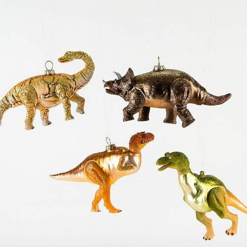 180 Degrees DF0680 Large 7″ Orange Glass Dinosaur Christmas Ornament – Tyrannosaurus Rex