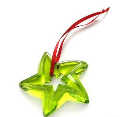 Baccarat Crystal Green Star Christmas Ornament